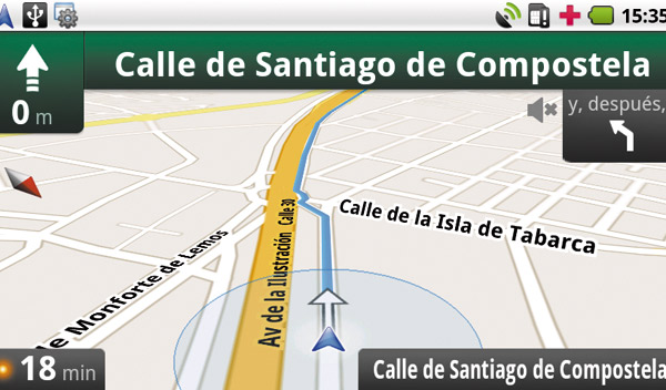 Google Maps Navigation (beta) gps para el coche