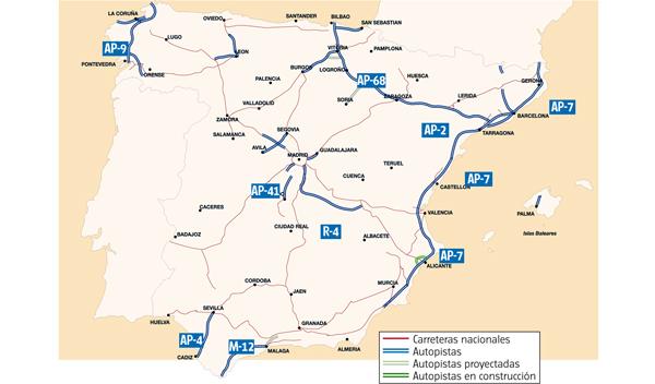 Mapa de las autopistas de peaje en España, tipo de carreteras, los precios y mucho más en nuestro artículo