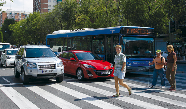 Start Stop. Paso para peatones