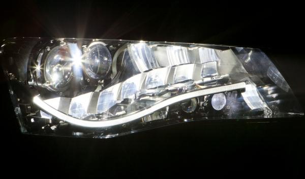 El en Matrix Beam se divide la luz LED en fuentes independientes