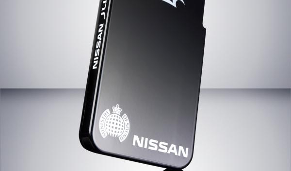 Visión trasera de la carcasa autorreparable de Nissan
