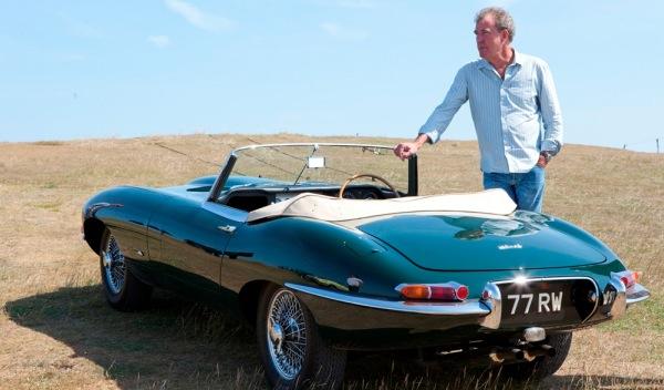 Jeremy Clarkson y Jaguar E-type