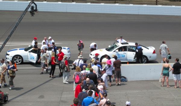 Este año, el público podía dar una vuelta al circuito en el Chevrolet Camaro ZL1