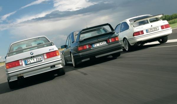 M3 vs Sierra Cosworth vs Mercedes 190E 16 Evo II trasera