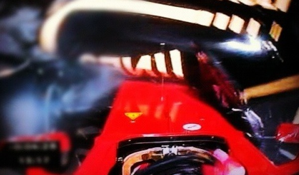 Accidente de Fernando Alonso en el GP de Bélgica 2012