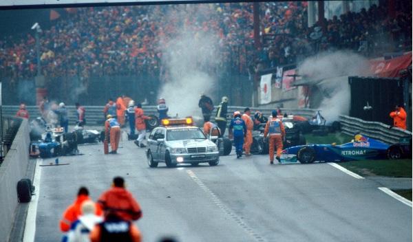 Accidente GP de Bélgica 1998, en Spa-Francorchamps