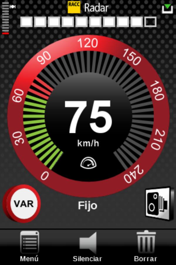 pantallazo app racc radar