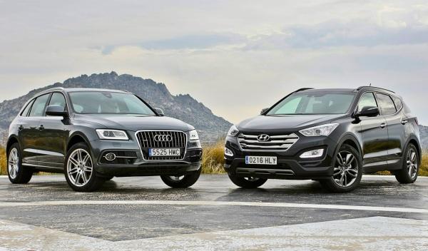 Audi Q5 y Hyundai Santa Fe