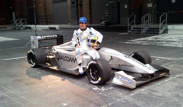 Lucas di Grassi y el coche de Fórmula E