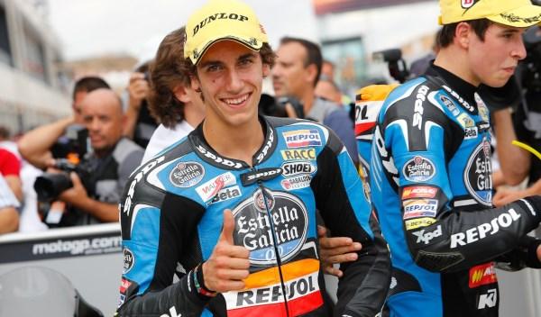 Álex Rins, ganador del Gran Premio de Aragón de Moto3.
