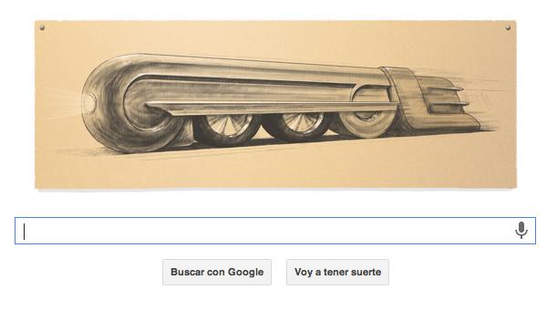 Doodle de Google con el tren eléctrico GG1