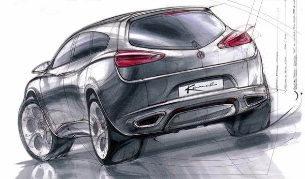 El Alfa Romeo Kamal concept de 2004