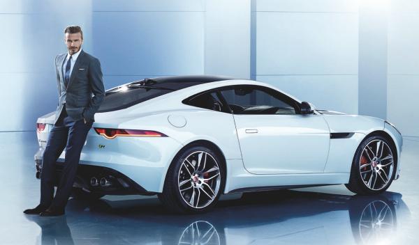 David Beckham con Jaguar