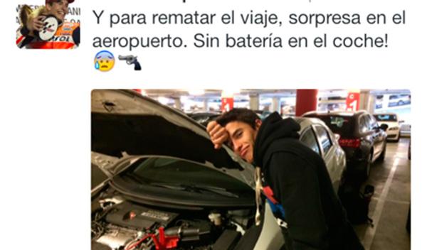 el coche de Marquez se queda sin batería