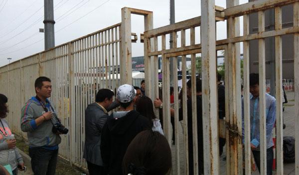salón de pekín 2014 periodistas chinos colándose