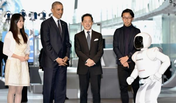 Barack Obama con ASIMO