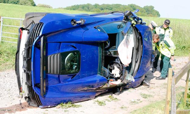 mclaren 650s accidente