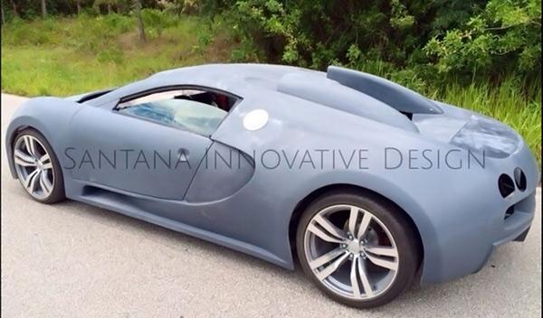 Veyron falso trasera