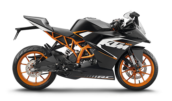 KTM RC 125 lateral