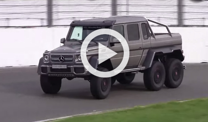 V deo el monstruoso mercedes g63 amg 6x6 en circuito for Mercedes benz 6x6 precio