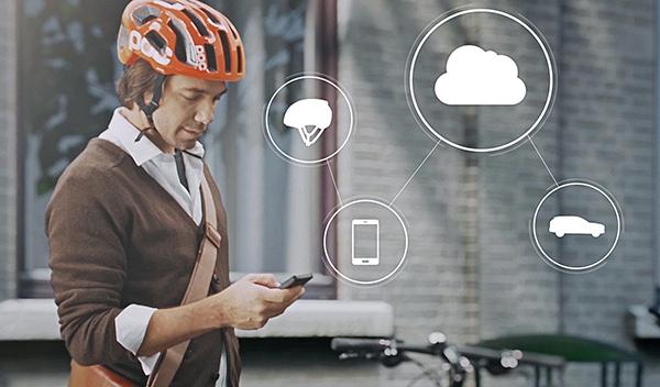 Volvo sistema casco bici app