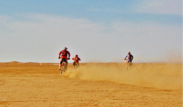 Grandes zonas de arena y dunas