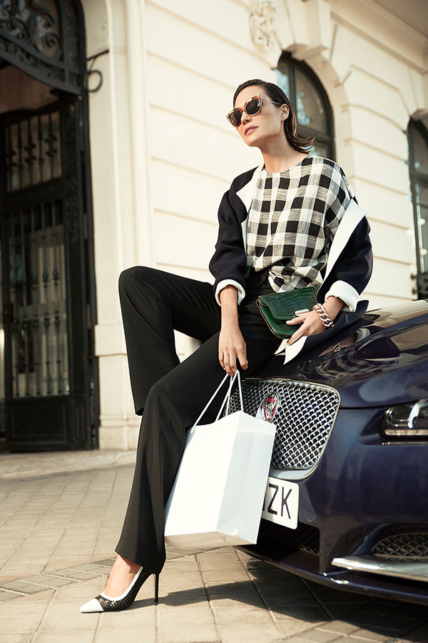 Juncal Rivero personal shopper en Madrid con Jaguar