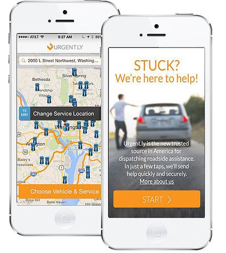 app urgent.ly con tecnología Zendrive