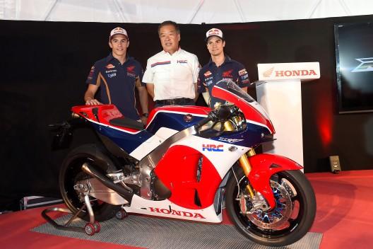 Honda RC213V con Pedrosa y Marquez