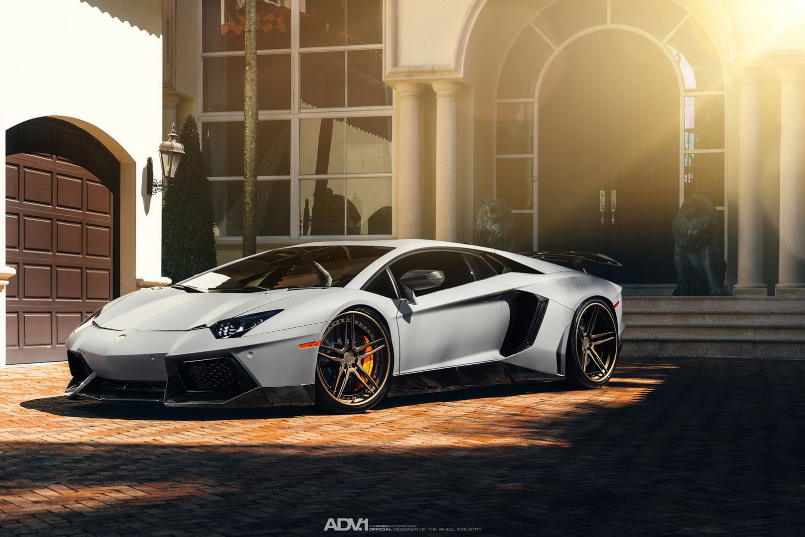 Adv1 Aventador Lamborghini Miami Wallpapers: Menudas Fotos De Un Lamborghini Aventador Con Llantas ADV1