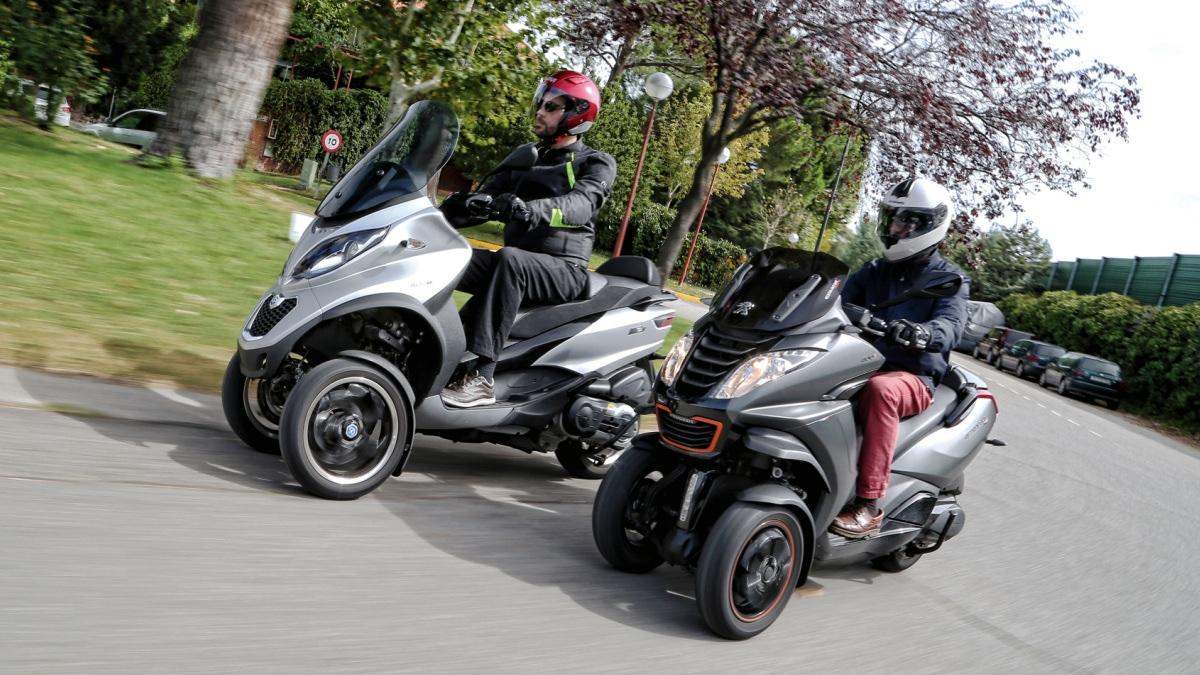 prueba piaggio mp3 500 lt vs peugeot metropolis 400 rs motos. Black Bedroom Furniture Sets. Home Design Ideas