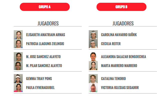 grupo femenino master world padel tour madrid 2015