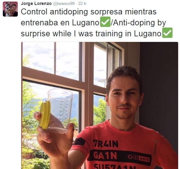Jorge Lorenzo Control Dopaje