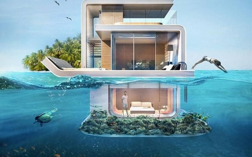 dubai tendr casas de lujo flotantes con pisos bajo el agua autobildes - Casas Lujosas