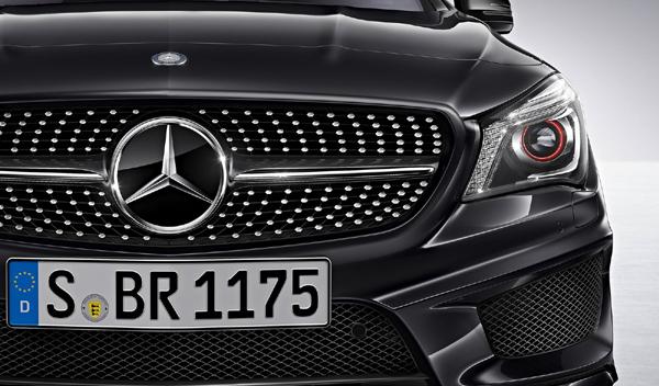 Logo marca coche Mercedes