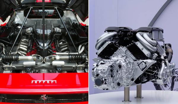 Ferrari Enzo Bugatti Chiron motores