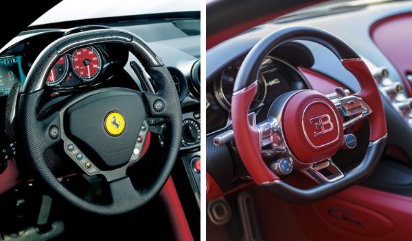Ferrari Enzo Bugatti Chiron volantes