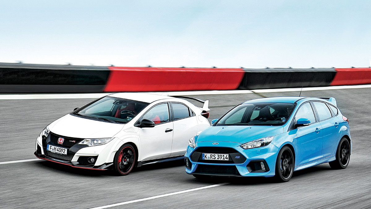 comparativa honda civic type r vs ford focus rs. Black Bedroom Furniture Sets. Home Design Ideas