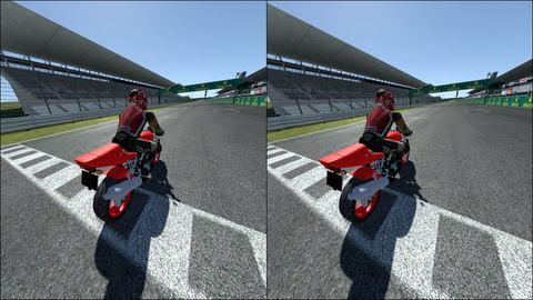 Pantalla simulador de motos rFpro