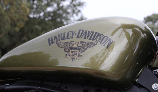 Harley Iron 883 depósito