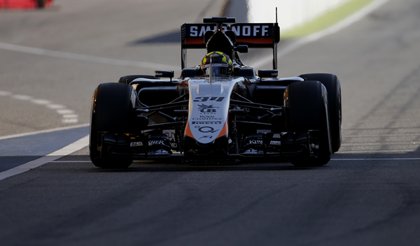 Alineación Test F1 postcarrera Barcelona 2015