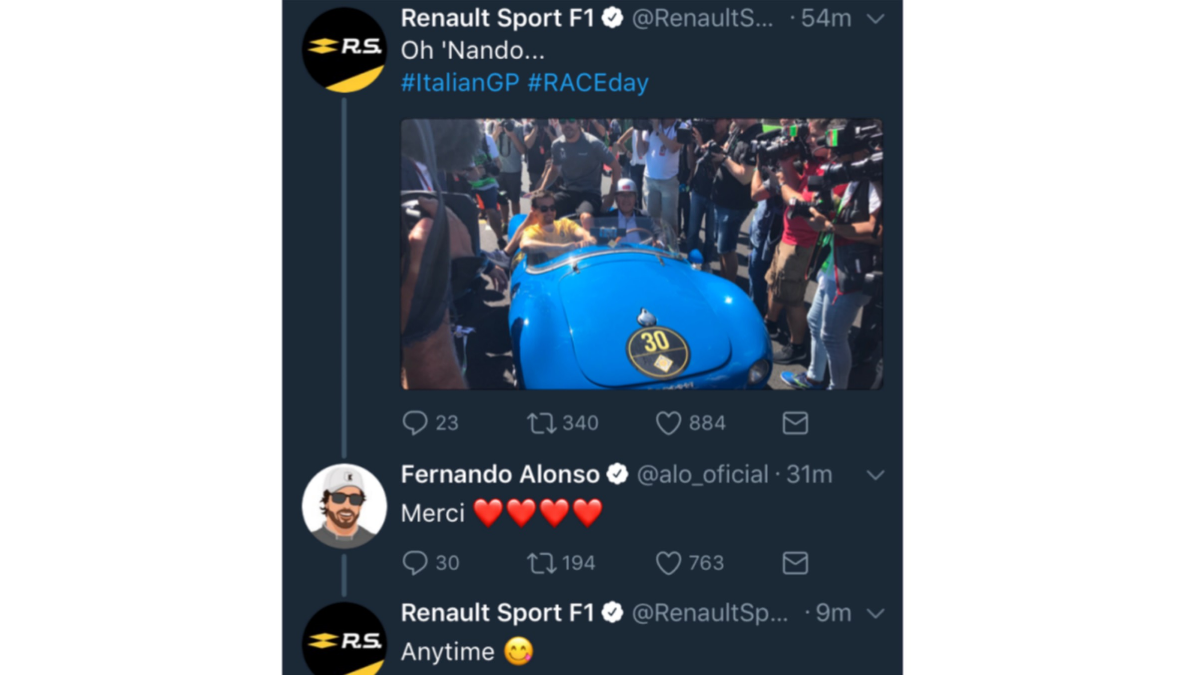 GP Italia 2017 - twitter