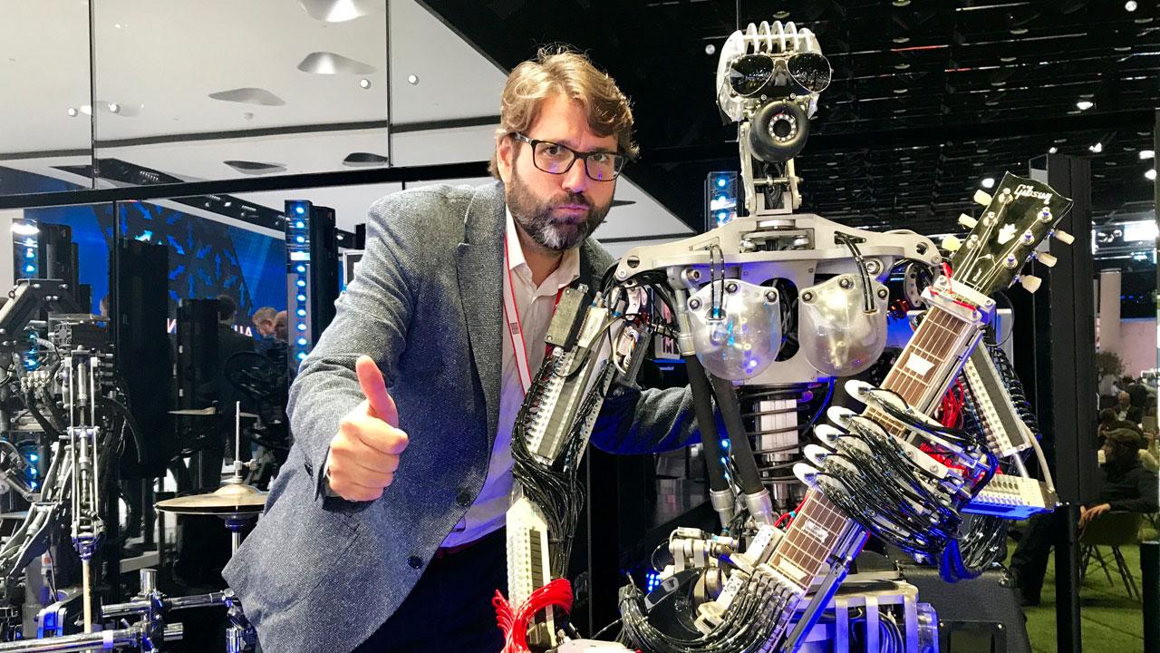 Robot en el stand de Audi en el Salón de Frankfurt 2017