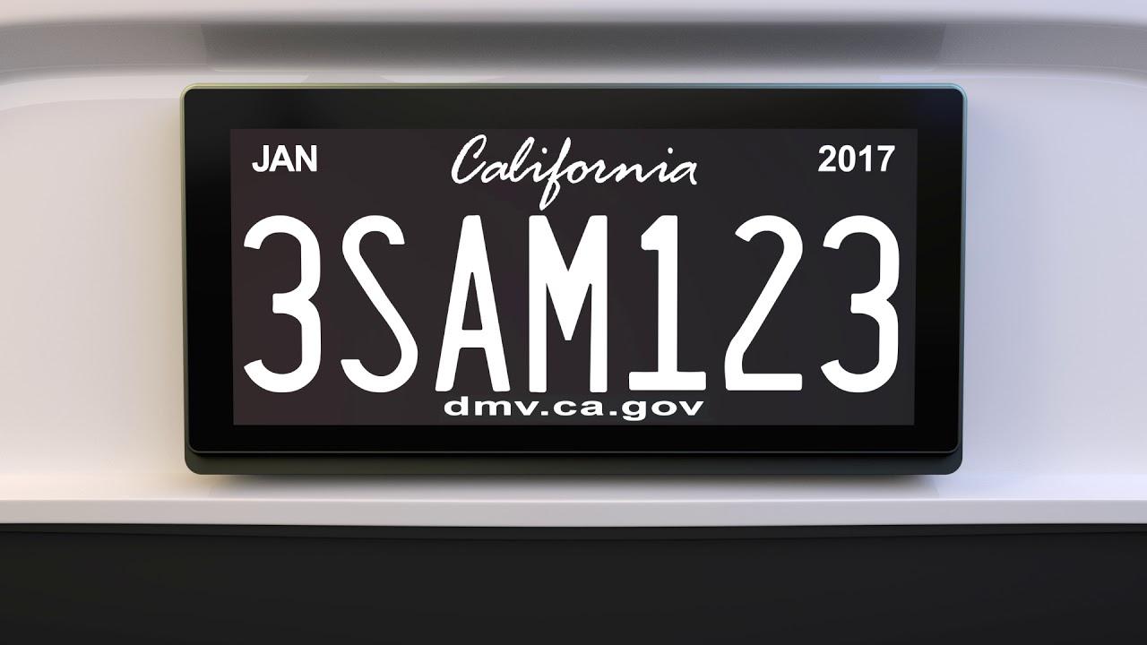 En California ya tienen matriculas digitales conectadas -- Autobild.es