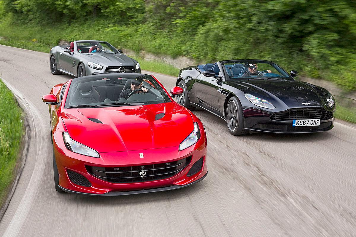 Comparativa Ferrari Portofino Vs Mercedes Amg Sl 63 Y Aston Martin Db11 Volante Autobild Es
