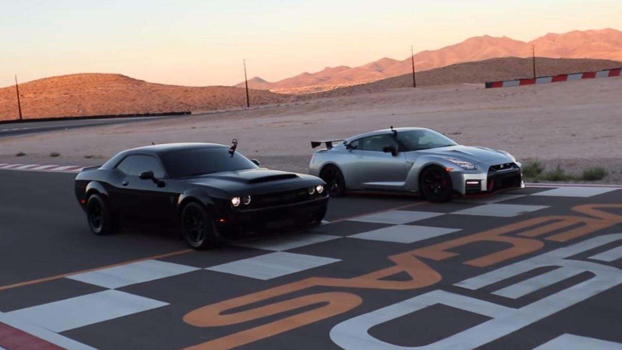 Video Puede El Nissan Gt R Nismo Con El Dodge Challenger Srt Demon Autobild Es