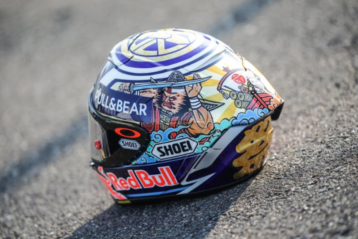 El casco especial de Marc Márquez para el GP de Japón