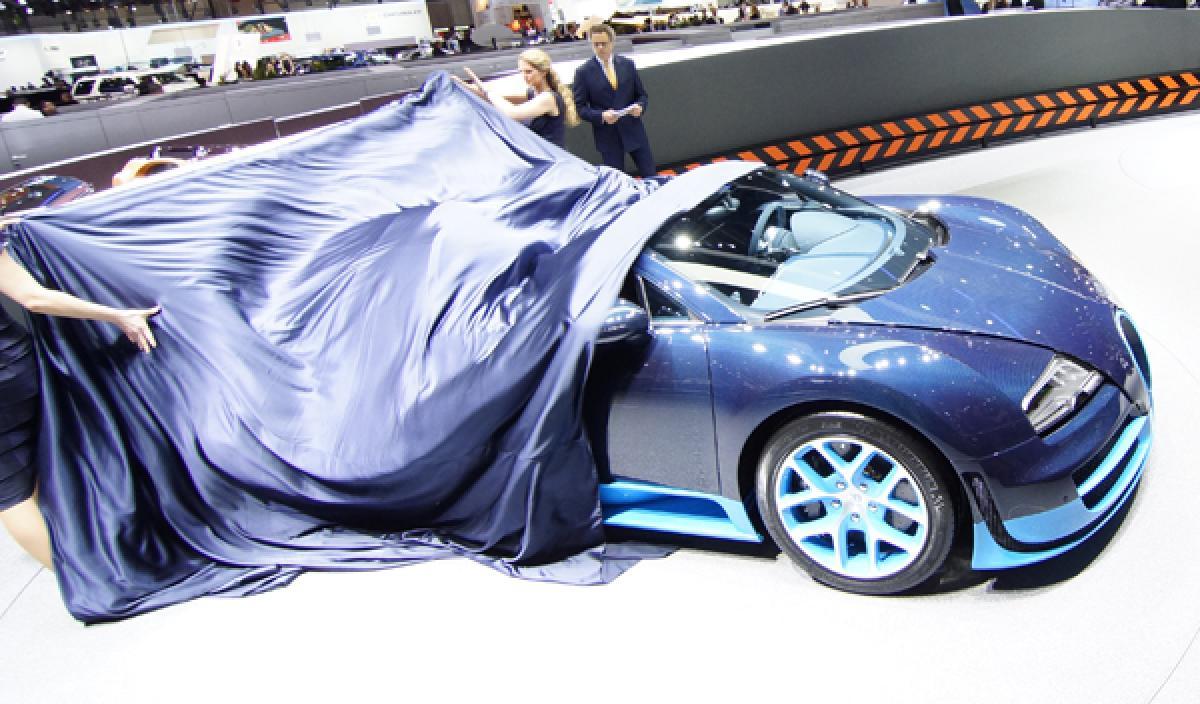 bugatti veyron grand sport vitesse  1 200 cv en ginebra