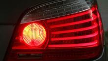 Luces de freno en un coche