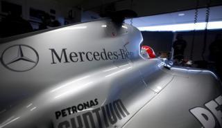 Primeros pasos del nuevo Mercedes de F1 en Silverstone